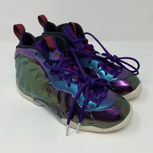 New Nike Little Posite One Iridescent Rush Pink